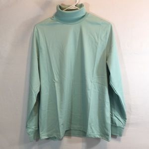 Lands' End Lg. Mint Green Long Sleeve Turtleneck